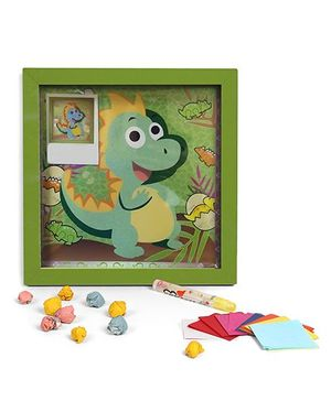 Baby Oodles DIY 3D Paper Wall Hanging Dino - Green