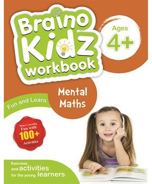 Braino Kidz Workbook Mental Maths Brown Green - English