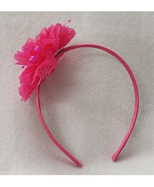 Tia Hair Accessories Beautiful Floral Hairband - Pink