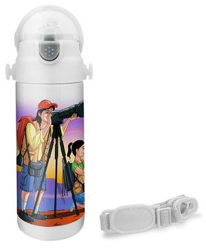 Hot Muggs Photographer Print Insulated Stainless Steel Sipper Water Bottle - 350 ml