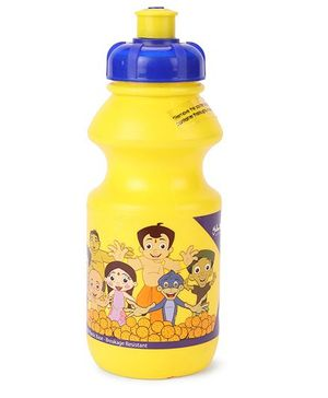 Chhota Bheem Sipper Water Bottle Yellow Purple - 425 ml