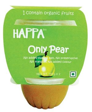 Happa Organic Pear Puree Pack Of 2 - 220 gm
