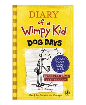 Diary Of Wimpy Kid Dog Days Story Book With CD By Jeff Kinney - English