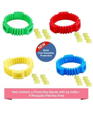 Safe-O-Kid Anti Mosquito Band Multicolor - Pack Of 4
