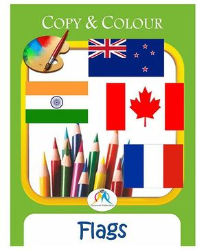 Copy & Colour Flags Book - English