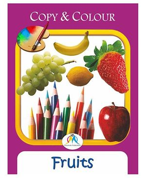 Copy & Colour Fruits Book - English