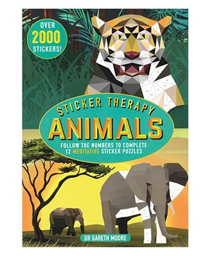Sticker Therapy Animals Book - English