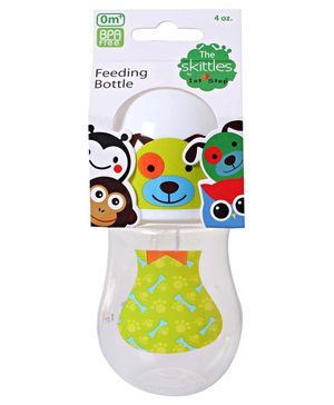 1st Step Skittle Plastic Feeding Bottle White - 118 ml