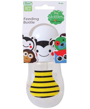 1st Step Skittle Plastic Feeding Bottle Yellow - 118 ml