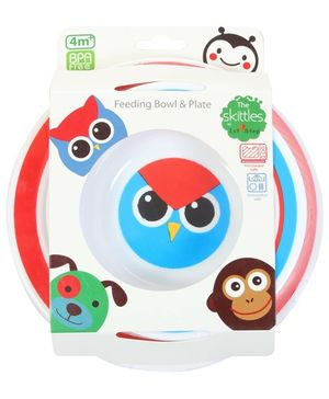 1st Step - Skittle Feeding Set Bowl and Plate