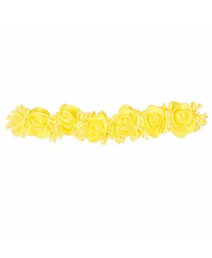Miss Diva Stylish Flowers & Frills Soft Headband - Yellow
