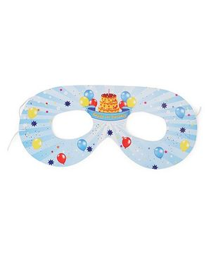 Karmallys Eye Masks Birthday Print Pack Of 10 - Blue