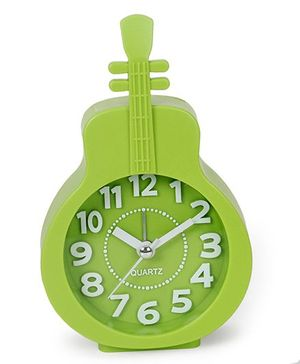 Guitar Shaped Alarm Clock - Green