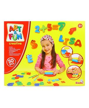 Simba Art & Fun Dough Set ABC and Numbers - Multicolor