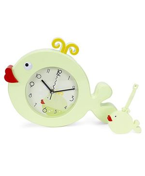 Fish Shape Clock - Light Green