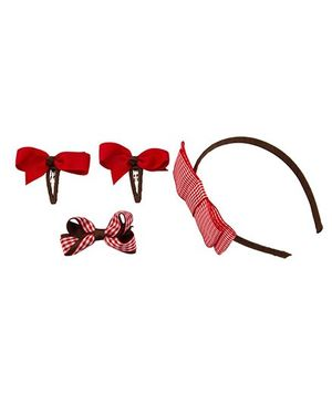 Babies Bloom Hair Accessory Set Of 4 - Red