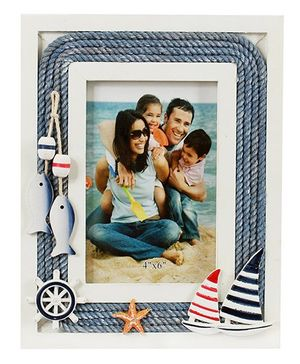 Babies Bloom Marine Themed Photo Frame - Blue White