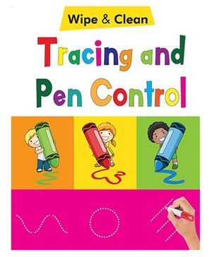Tracing And Pen Control Wipe & Clean Book - English