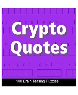 Crypto Quotes-100 Brain Teasing Puzzles Book - English