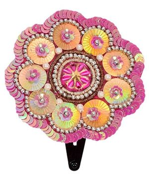 Miss Diva Ethnic Bright Shinning Flower Applique Tic Tac - Magenta