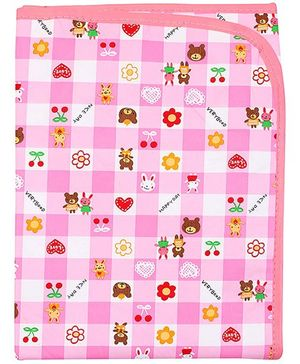 1st Step - Pink Baby Mat With Happy Day Print