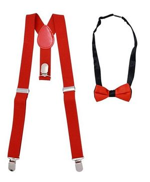 Miss Diva Plain Supsender With Bow - Red
