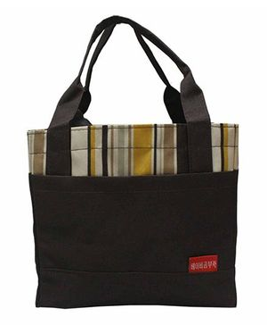 Ez Life Stripes Lunch Bag - Brown