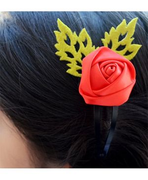 Pretty Ponytails Rose Flower Hair Clip - Red