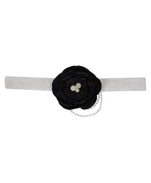 Funkrafts Flower With Pearl Headband - Black