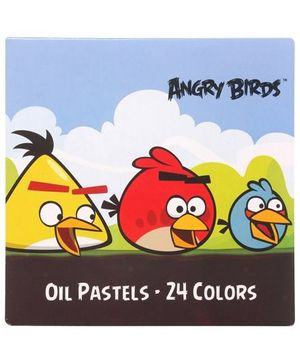 Angry Birds - Oil Pastel Colors 24 Pieces