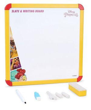 Disney Princess 2 In 1 Slate & Writing Board (Color May Vary)