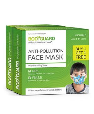 BodyGuard Anti Pollution Face Mask - Buy 1 Get 1 Free