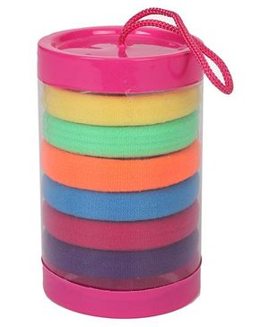 Babyhug Hair Rubber Band Set Pack of 6 - Multi Colour