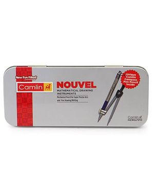 Kokuyo Camlin Nouvel Geometry Box - Grey