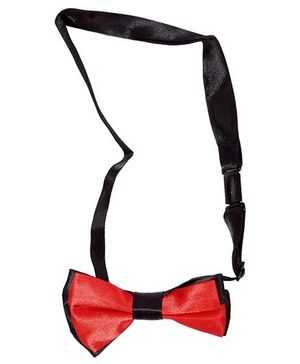 Miss Diva Party Wear Bow Tie - Black & Red