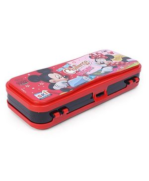 Disney Mickey & Friends Dual Compartment Pencil Box - Red Black