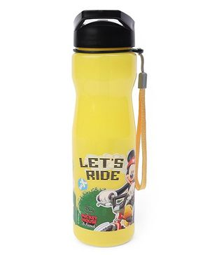 Disney Mickey Mouse Let's Ride Sipper Water Bottle With A Straw Yellow - 700 ml