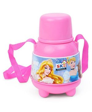 Disney Princess Sipper Water Bottle With A Straw Pink - 450 ml