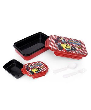 Disney Mickey Mouse Roadsters Print Lunch Box - Red Black
