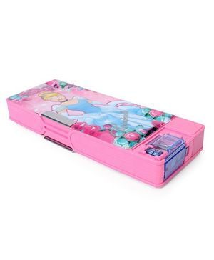 Disney Princess Pencil Box With White Board & Marker - Pink Blue