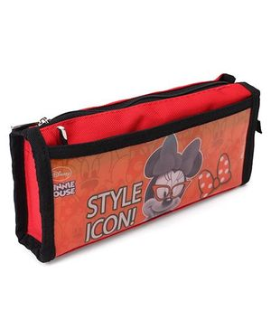 Disney Minnie Mouse Rectangular Pencil Pouch - Black Red