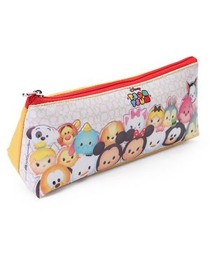 Disney Tsum Tsum Zippered Pencil Pouch - White Red
