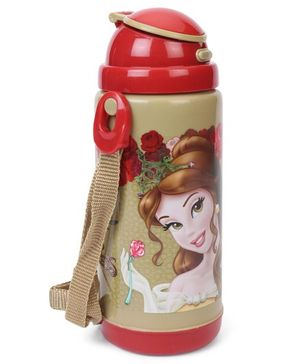 Disney Insulated Sipper Bottle Girl Print Red & Beige - 450 ml