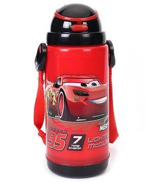 Disney Pixar Cars Insulated Sipper Bottle Black Red - 450 ml