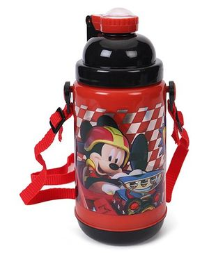 Disney Mickey Mouse Stainless Steel Insulated Sipper Bottle Red Black - 500 ml