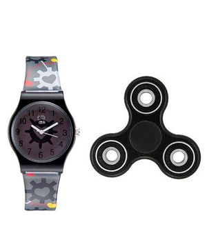 Fantasy World Watch & Spinner Combo - Black