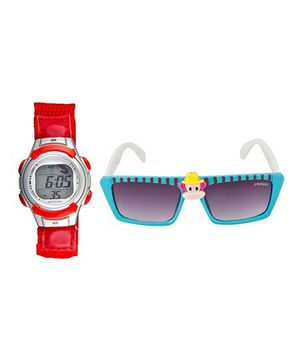 Fantasy World Watch & Sunglasses Combo - Red & Blue