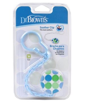 Dr. Browns Soother Holder Clip Polka Dot Print (Color May Vary)