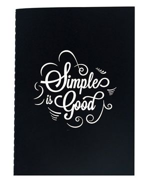 The Crazy Me A6 Thread Bound Diary Simple is Good Print - White Black
