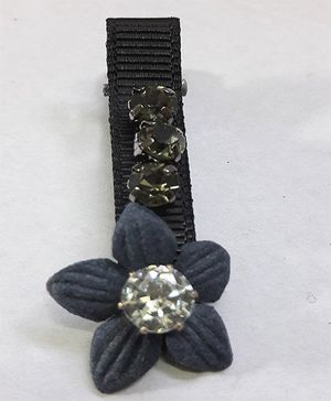 Sugarcart Flower With Pearl Studded Clip - Blue